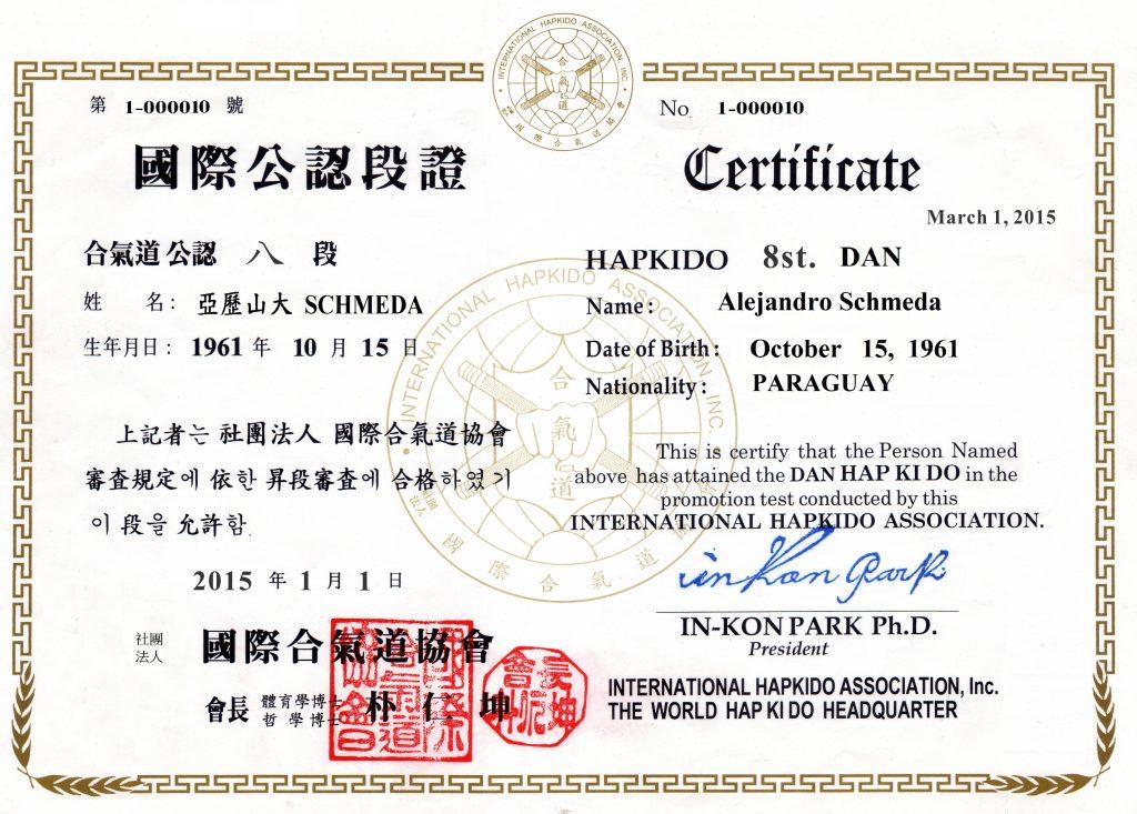 La imagen tiene un atributo ALT vacío; su nombre de archivo es Alejandro-Diploma-Hapkido-8ST-1024x733.jpg